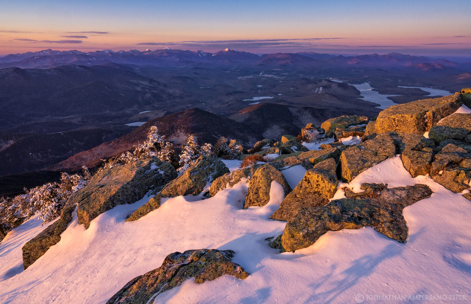 Whiteface Mt,summit,rocks,alpenglow,pink snow and rocks,High Peaks,March,2020,late winter,Whiteface,Whiteface Mountain,, photo
