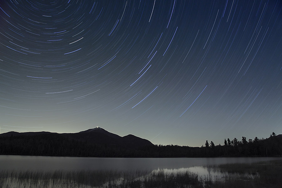 Whiteface,startrails,night,sky,Whiteface Mt,Conerell Pond,November,, photo