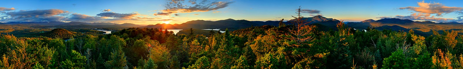 360 degree panorama,panorama,treetop,Mt Whitney,Whitney Mt,Lake Placid,village,High Peaks,Adirondack mountains,, photo