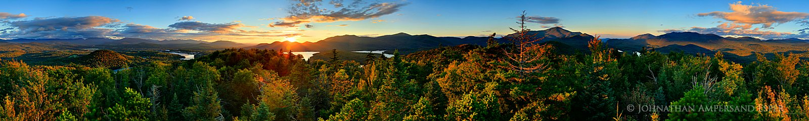 Mt Whitney,Lake Placid,treetop,360 degree,panorama,summer sunset,Lake Placid region,Mt Whitney Treetop,360, photo