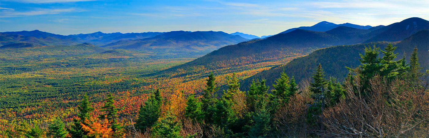 treetop,Wilmington Range,town,Wilmington,Newberry Pond,spruce,fall,panorama,Whiteface Mt,, photo