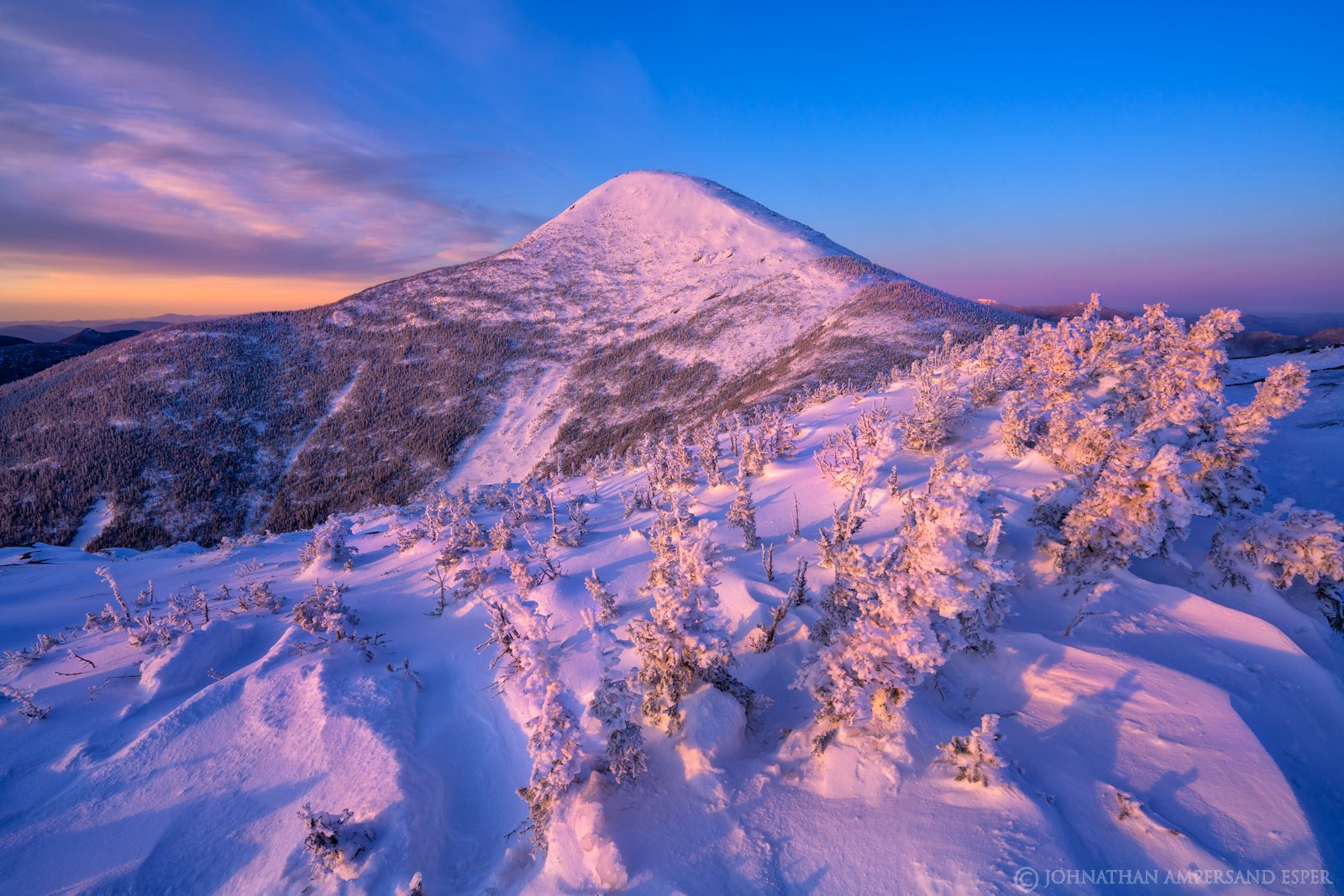 Algonquin Peak,Algonquin,High Peaks,winter 2020,2020,winter,snow,Adirondack Mountains,Adirondacks,Wright Peak,summit,summit dome...