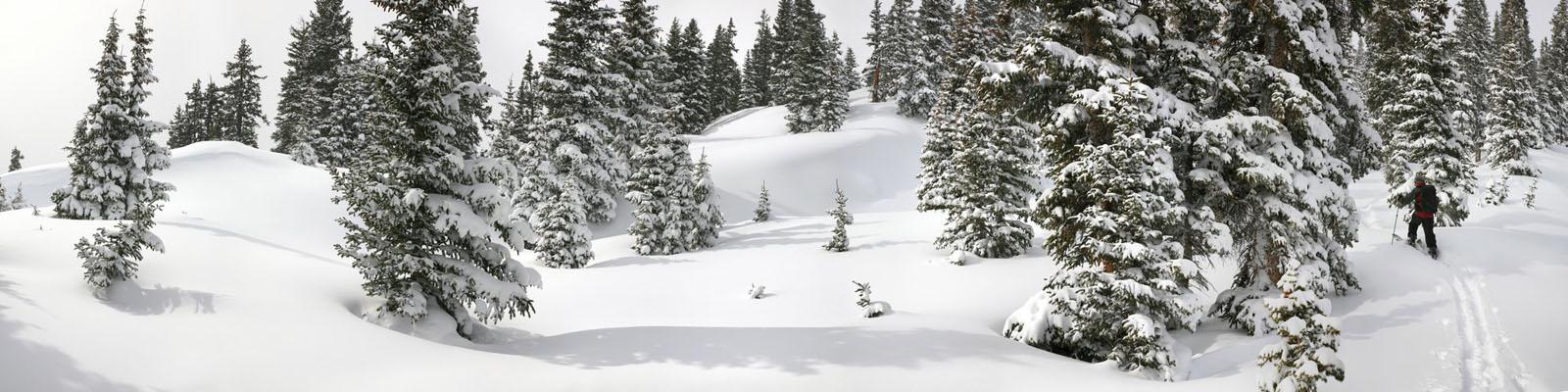 splitboarding,backcountry,skiing,Colorado,snow,deep,wilderness,mountains,panoramic,, photo