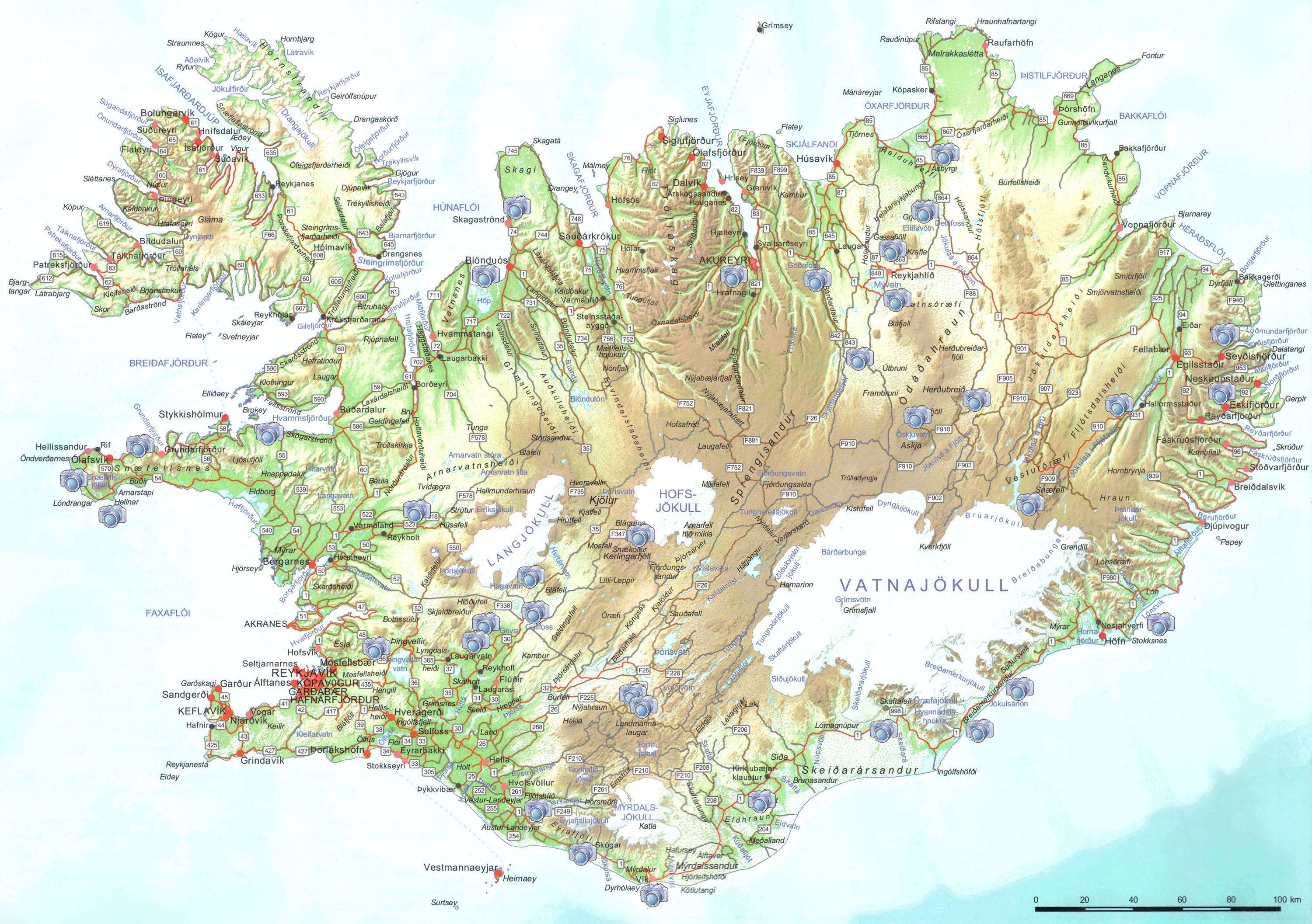 ICELAND Circumnaviation Highlands photo tour summer 2014 – Iceland Tourist Attractions Map